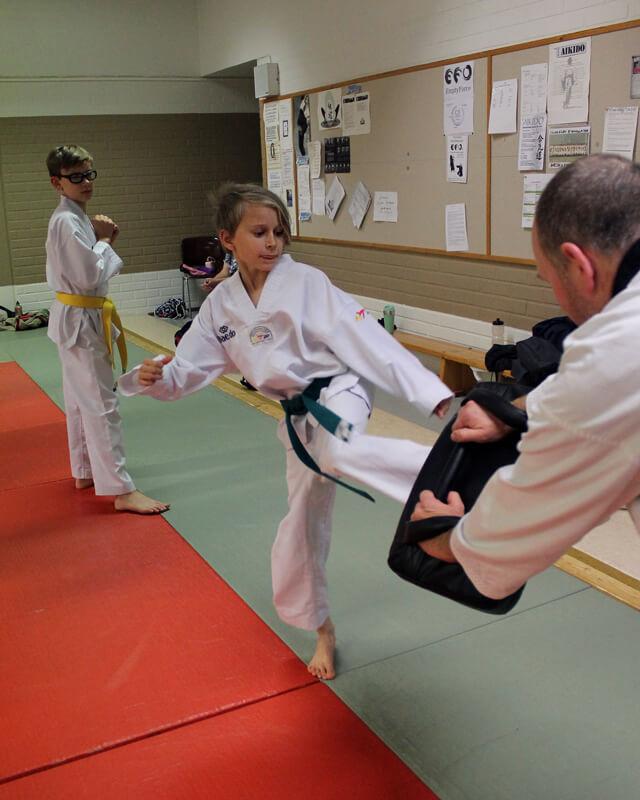 Taekwondo sopii myös lapsille